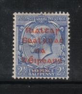 W1880 - IRLANDA , Il  2 1/2 Penny  Azzurro  *  Mint - 1922 Governo Provvisorio