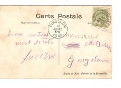 TP 83 S/CP Des Grottes De Han C.Ambulant Verviers-Bruxelles 2 30/6/1908 V.Gingelom C.d'arrivée PR4292 - Postmark Collection