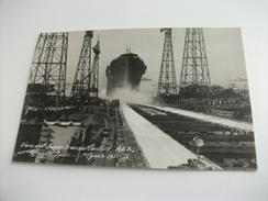 Nave Ship  VARO DEL SUPERTRANSATLANTICO REX  PRIMO PIANO GENOVA SESTRI PONENTE 1 8 1931 FOTOGRAFICA PICCOLO FORMATO - Paquebots