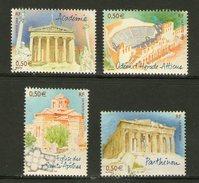 France 3718 3721 2004  Athènes Capitales Du Bloc 78  Neuf ** TB MNH Faciale 2 - Holidays & Tourism