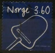 NORUEGA 1999 Norwegian Inventions - Self-Adhesive. LIGERA DOBLEZ. USADO - USED. - Norwegen