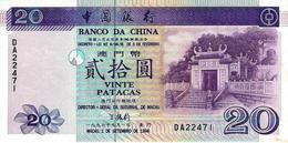 MACAU 20 PATACAS 1996 P-91 AU 2MM TEAR AT RIGHT BOTTOM [MO202a] - Macao