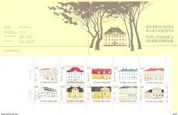 Finland 1983 Architecture (II): Manor Houses Mi 903-912 In Booklet MH 13   MNH(**) - Ongebruikt