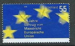BR Deutschland  2003  Mi 2373  10 Jahre Vertrag Von Maastricht - Gebruikt