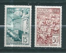 France Colonie Timbres Du Maroc De 1953  N°325/26  Neufs * - Marokko (1891-1956)