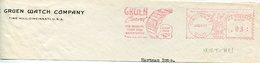 20258 U.s.a. Fragment Of Cover,cincinnati 1941, Red Meter/freistempel/ema/gruen Watch Company,watch Montre - Uhrmacherei