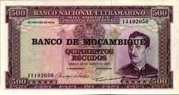 MOZAMBIQUE 500 ESCUDOS Du 22-3-1697/76nd  Pick 118  UNC/NEUF - Mozambique