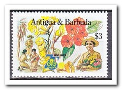 Antigua & Barbuda 1985, Postfris MNH, Flowers, Scouting - Antigua En Barbuda (1981-...)