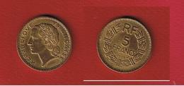 5 Francs 1939  -- état  TTB+ - France