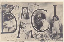Baci - Bellisssimo Montaggio Fotografico D'epoca - 1905        (A31-140713) - Children And Family Groups