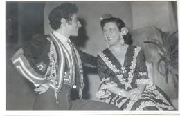 IMPERIO ARGENTINA AUTOGRAFO SOBRE FOTO CON ANGEL PERICET ARCHIVO DE SINTONIA CAFE CANTANTE 6,5 X 4,2 PULGADAS - Autographes