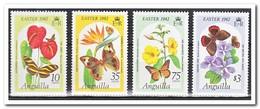 Anguilla 1982, Postfris MNH, Flowers, Butterflies - Anguilla (1968-...)