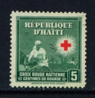 HAITI  -  1945  Red Cross  5c  Mounted/Hinged Mint - Haiti