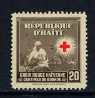 HAITI  -  1945  Red Cross  20c  Mounted/Hinged Mint - Haiti