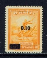 HAITI  -  1947  Surcharge  0.10 0n 35c  Mounted/Hinged Mint - Haïti