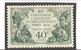 HAUTE VOLTA    EXPOSITION COLONIALE DE PARIS  N° 66* Charnière - Obervolta (1920-1932)