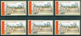 Israel MACHINE LABELS - ATM - 2016, Jeruzalem, Mint Condition - Vignettes D'affranchissement (Frama)
