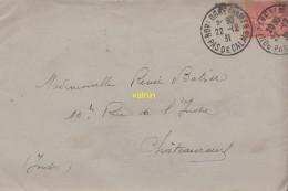 Enveloppe Timbrée - Marcophilie (Lettres)