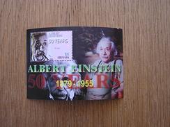 ALBERT EINSTEIN 6 $ Dollars 50 Years 1879 1955 Sheet Grenada Isle Grenade Iles Antilles Caraïbes - Grenade (1974-...)