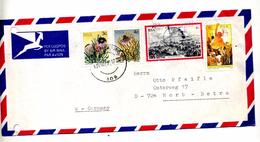Lettre Cachet  Johannesbourg Sur Fleur Isandlwana Sante - Afrique Du Sud (1961-...)