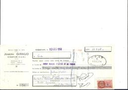 Ref 26/ 13, Roquevaire, Joseph Giraud, 1956, Pour Montpellier 34 - Banque & Assurance