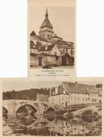 Photo (1951) : CHAMBON-SUR-VOUEIZE (Creuse), L'église Et Le Vieux Port (8 Cm X 11,5 Cm Et 10 Cm Sur 18 M)) - Vieux Papiers