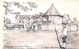 Magazine And Guardhouse - Williamsburg - Illustrateur Ill. Charles Overly - Etats-Unis