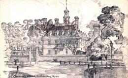 Governor's Palace - Williamsburg - Illustrateur Ill. Charles Overly - Etats-Unis