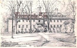 Wren Building - Williamsburg - Illustrateur Ill. Charles Overly - Etats-Unis