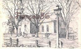 Bruton Parish Church - Williamsburg - Illustrateur Ill. Charles Overly - Etats-Unis