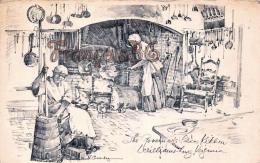 Governor's Palace Kitchen - Williamsburg - Illustrateur Ill. Charles Overly - Etats-Unis