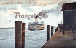 Str Tashmoo Leaving St Saint Clair - Ship Bateau - Etats-Unis
