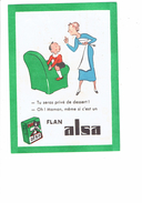 Cpa - Publicité Flan ALSA Illustration Femme Garçon - Epicerie G. PIGEON 52 CHAUMONT Clos Voillemin 1959 - Chaumont