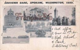 Souvenir Card - Spokane 1899 - Washington - Spokane