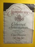 3783 - Symphony 1986 Cabernet Sauvignon 1986 Cape Province Afrique Du Sud - Musique