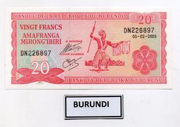 Burundi - 2005 - Banconota Da 20 Franchi - Nuova -  (FDC3968) - Burundi