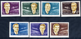 HUNGARY 1962 International Space Conference Imperforate  Set MNH / **.  Michel 1873-79B - Hungría