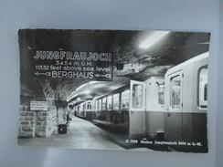 CPA PHOTO SUISSE STATION JUNGFRAUJOCH METRO - Switzerland