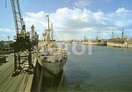 PHOTO POSTCARD NAVIO BENGUELA SHIP MATOSINHOS PORTO PORTUGAL CARTE POSTALE - Porto