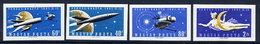 HUNGARY 1961 Venus Rocket Launch Imperforate Set MNH / **.  Michel 1758-61B, - Hungary