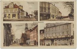 Polska - Polen - Poland - SCHNEIDEMÜHL - 4 Vues Couleur : Gönnerweg - Brauerstrasse - Reichspost - Hotel Goldener Löwe - Polen