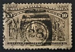 1893 Columbus Mit Einheimischen  Sc.237 ( Cancel 28 ) - 1847-99 General Issues