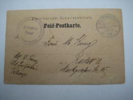 1907 , Keetmanschoop , Klarer Stempel Auf Feldpostkarte Mit Schutztruppen Siegel , Rs . Bild , Einige Nadellöcher - Colony: German South West Africa