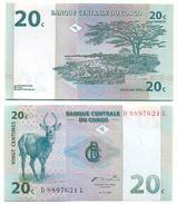 Congo 20 Centimes 1997 Pick 83.a UNC - República Democrática Del Congo & Zaire