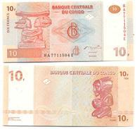 Congo 10 Francs 2003 Pick 93.a UNC - Congo