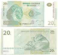 Congo 20 Francs 2003 Pick 94.a UNC - República Democrática Del Congo & Zaire
