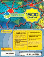 F.Y.R.O.M. - Mobimak Prepaid Card 1500 Dinars, Used - Macedonia