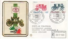 """1985 - FDC VATICANO """" ITALI 85 CARROZZE """" FILAGRANO VIAGGIATA VEDI++++ - FDC"""