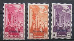 ITALIA COLONIE  - ITALIAN COLONIES  - CIRENAICA  - 1932 -  POSTA AEREA - 3  V. -  MLH - - Cirenaica