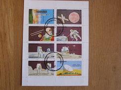 NAGALAND  Espace Space Astronautique Engin Spatial Apollo Lune Sheet Stamp Bloc Timbres - Autres - Asie